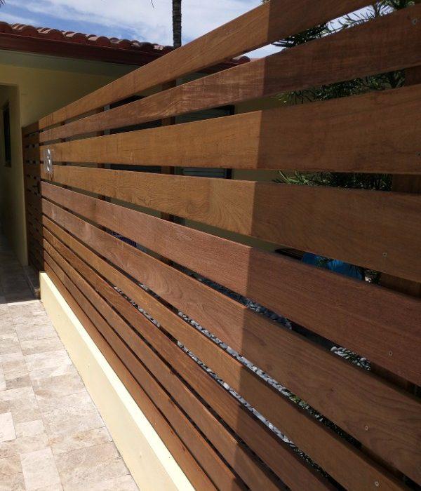 wood boundary fence