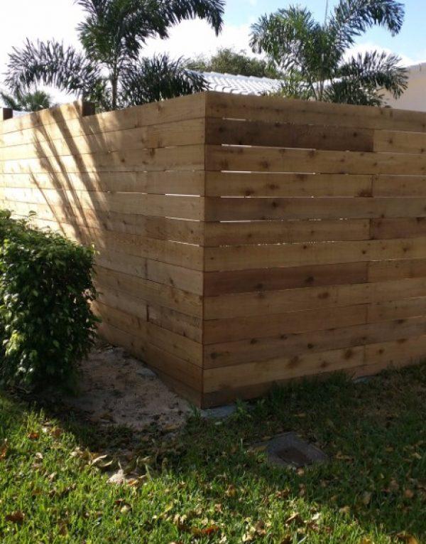 wood garden fence enclosure