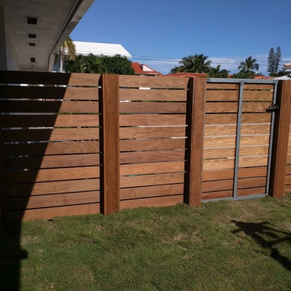 nice garden fence on grass