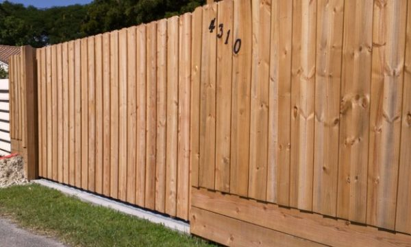 wood fence for privacy
