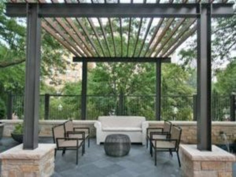 pergola made from metal