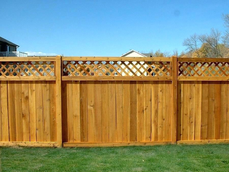 wood fence residential